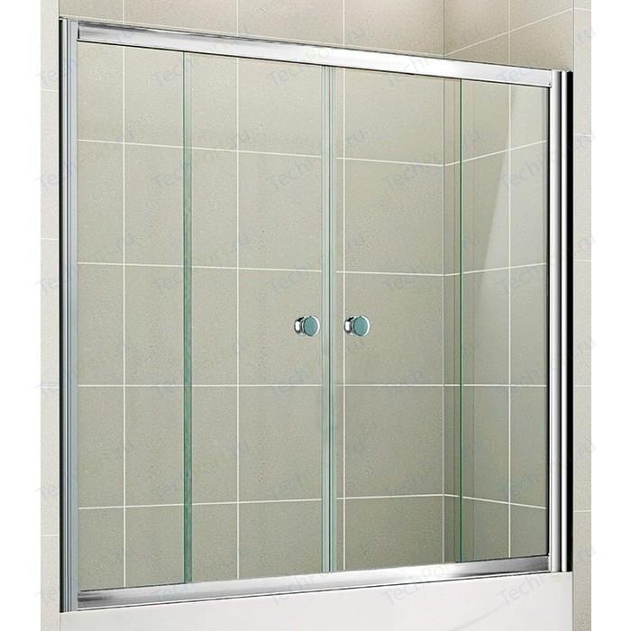 Шторка на ванну Cezares Pratico VF-2-150 прозрачная, хром (PRATICO-VF-2-150/140-C-Cr)