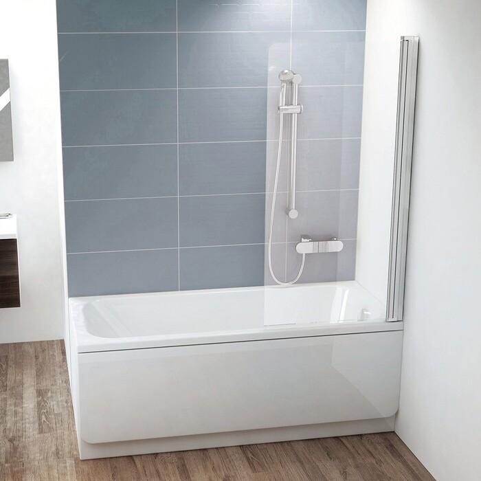 Шторка на ванну Ravak Chrome CVS1-80 R прозрачная, хром, правая (7QR40C00Z1)
