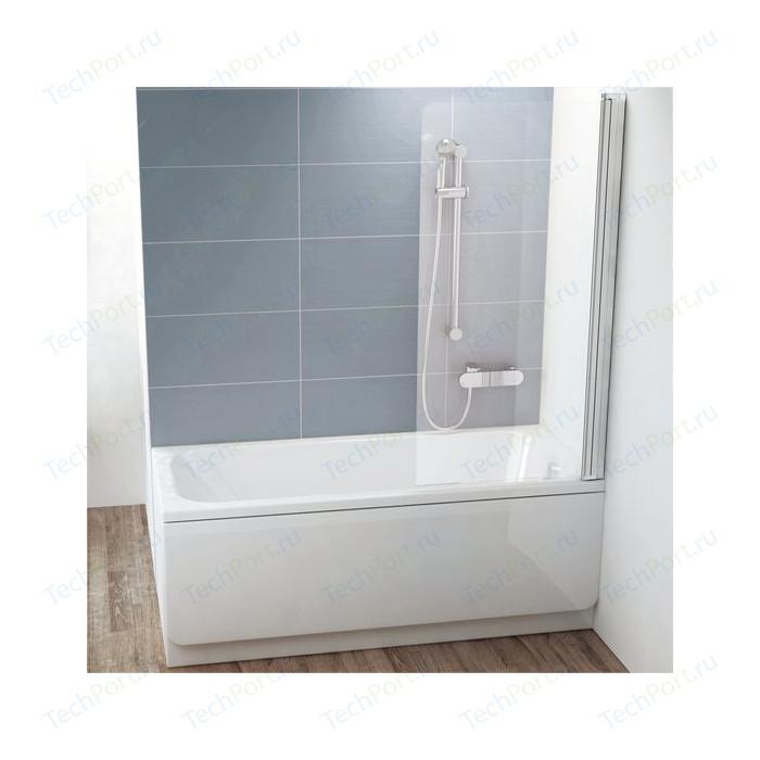 Шторка на ванну Ravak Chrome CVS1-80 R прозрачная, сатин, правая (7QR40U00Z1)