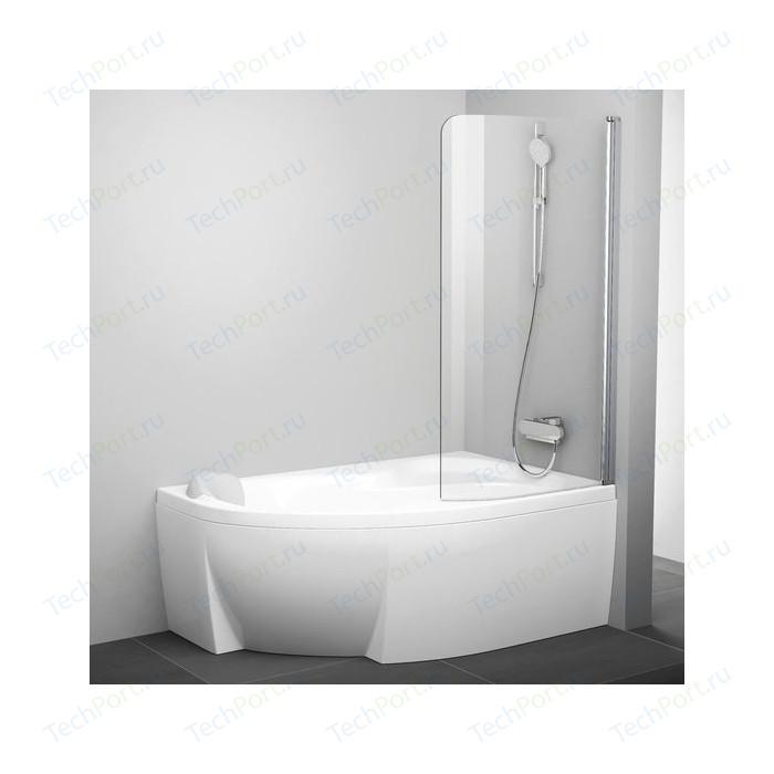 Шторка на ванну Ravak Chrome CVSK1 85 Rosa 140/150 R прозрачная, хром, правая (7QRM0C00Y1)