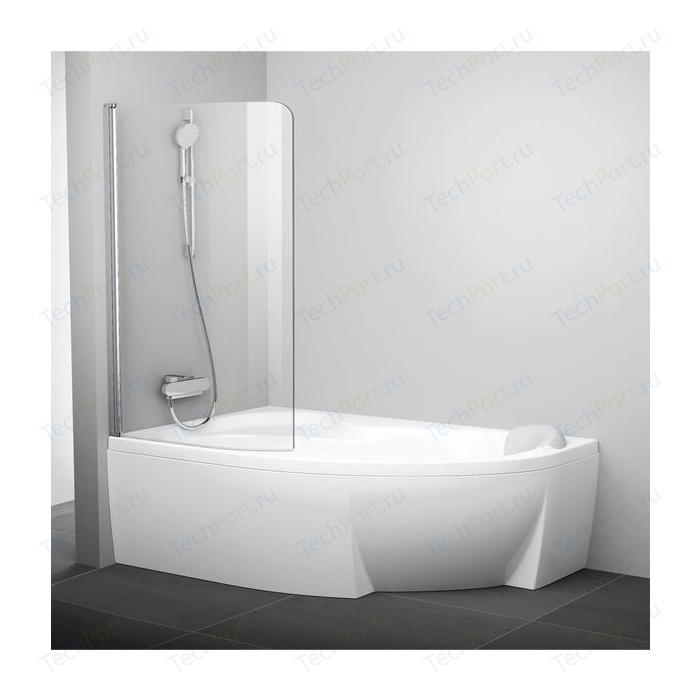 Шторка на ванну Ravak Chrome CVSK1 100 Rosa 160/170 L прозрачная, сатин, левая (7QLS0U00Y1)
