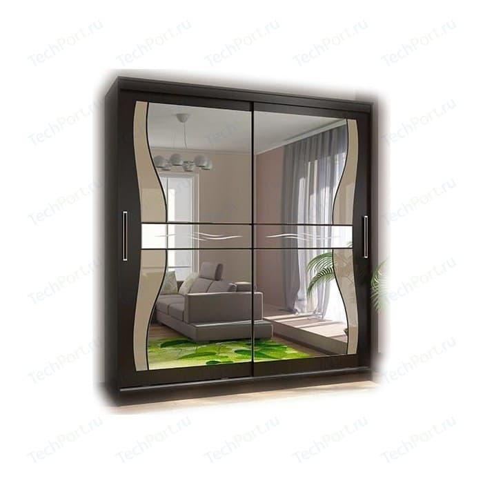 Шкаф-купе Стиль Комфорт 12 Комплект зеркал №1 (фигурные+лакобель ), венге