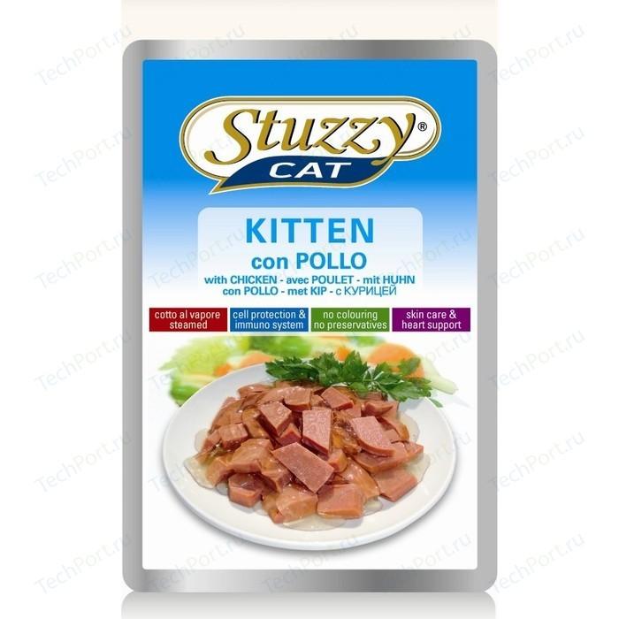 Паучи Stuzzy Cat Kitten Skin Care & Heart Support with Chicken кусочки в соусе с курицей, забота о коже и сердце для котят 100г (132.С2451)