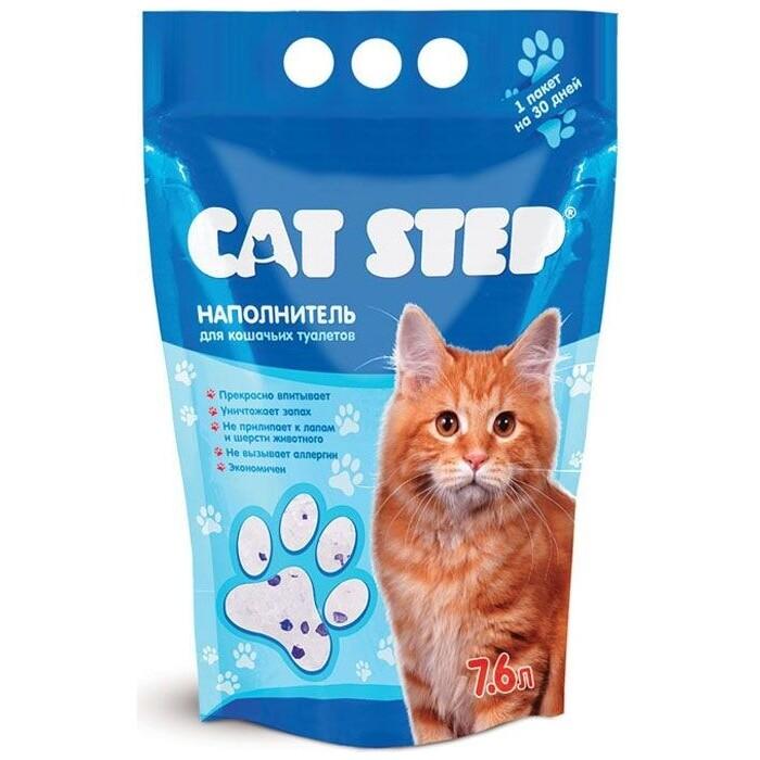 Наполнитель Cat Step впитывающий силикагель для кошек 3,62кг (7,6л) (НК-006)