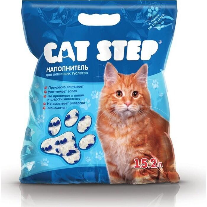 Наполнитель Cat Step впитывающий силикагель для кошек 7,24кг (15,2л) (НК-018)546622