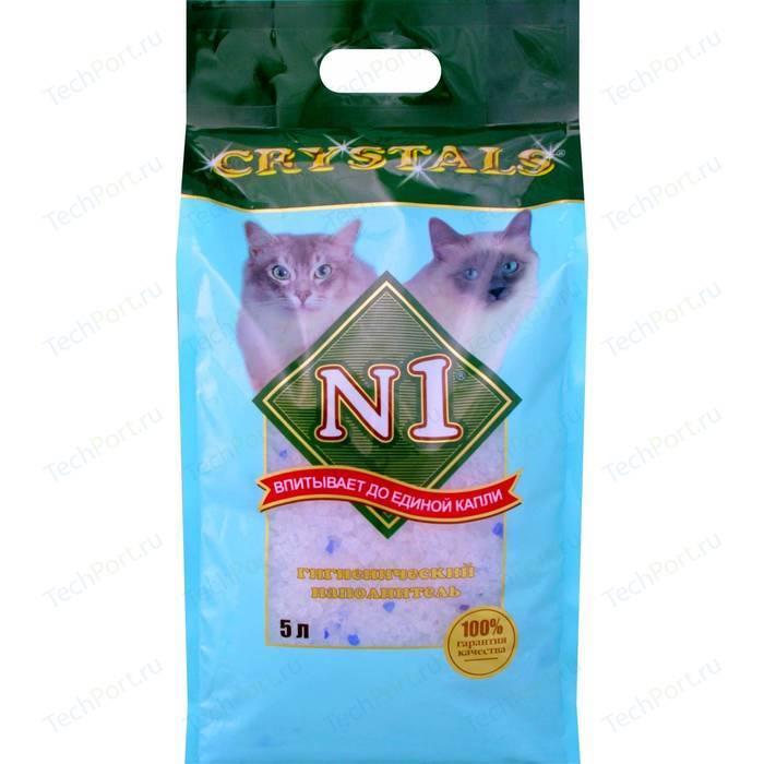 Наполнитель N1 Crystals впитывающий силикагель для кошек 5л (92201)