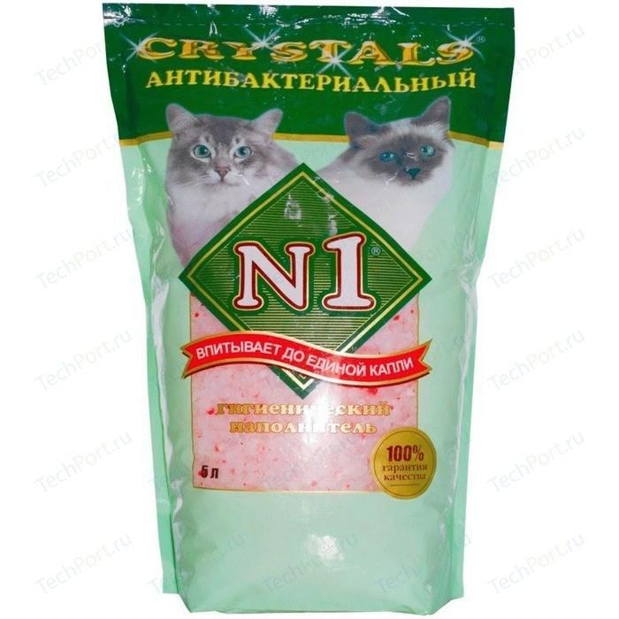 Наполнитель N1 Crystals антибактериальный впитывающий силикагель для кошек 5л (92202)