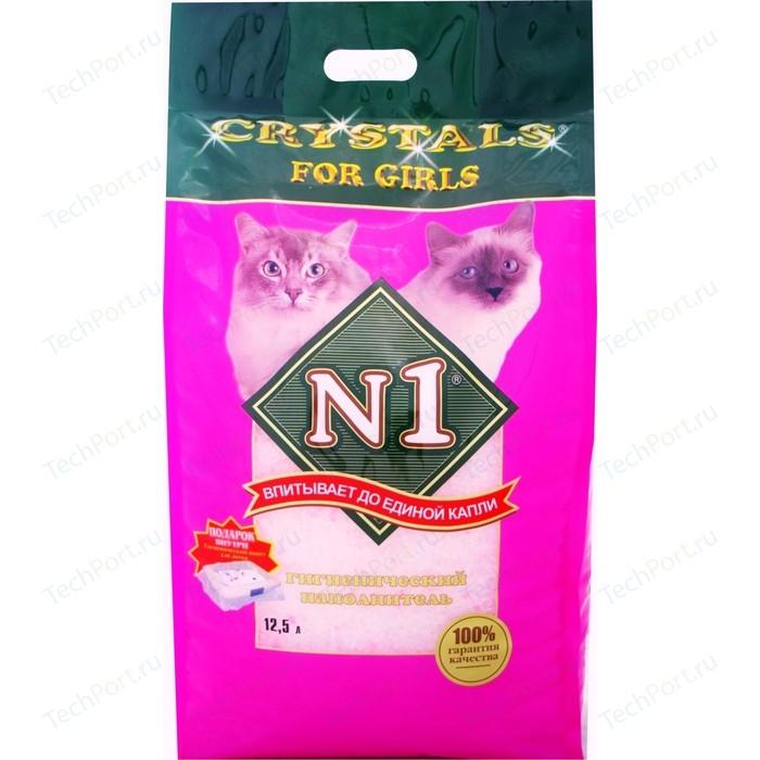 Наполнитель N1 Crystals For Girls впитывающий силикагель для кошек 5л (92206)