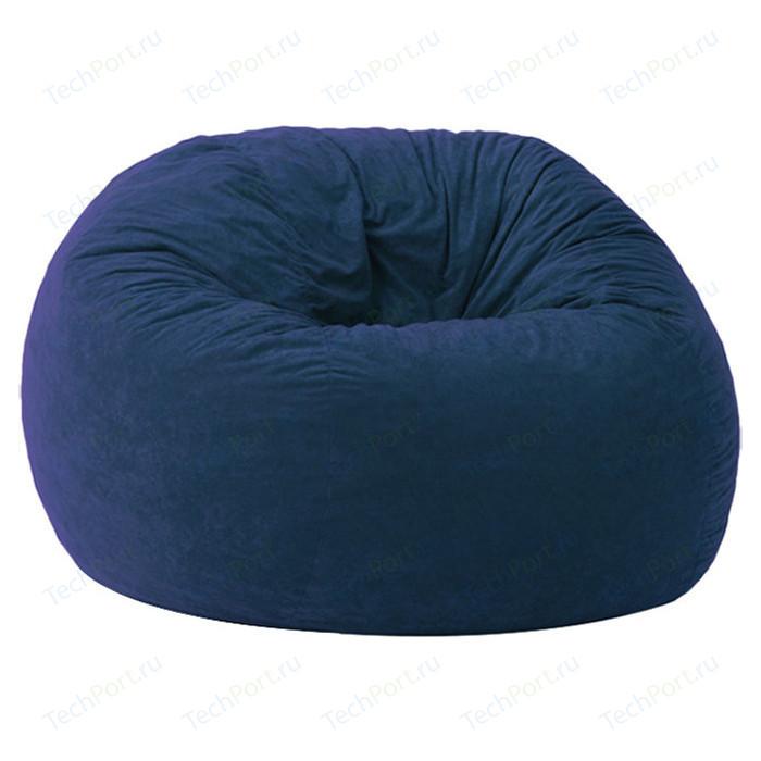 Кресло-мешок POOFF Шар микро-вельвет синий