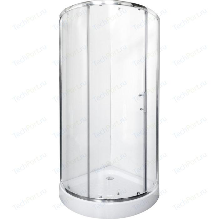 Душевой уголок Rush Devon 80x80 прозрачный, хром (DE-R18080)