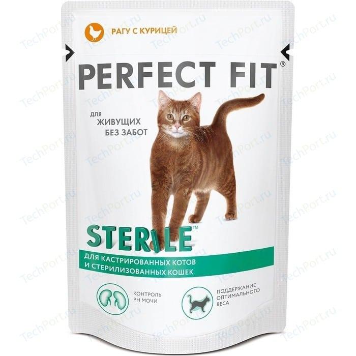 Паучи PERFECT FIT Sterile рагу с курицей для стерилизованных кошек 85г (10117170)