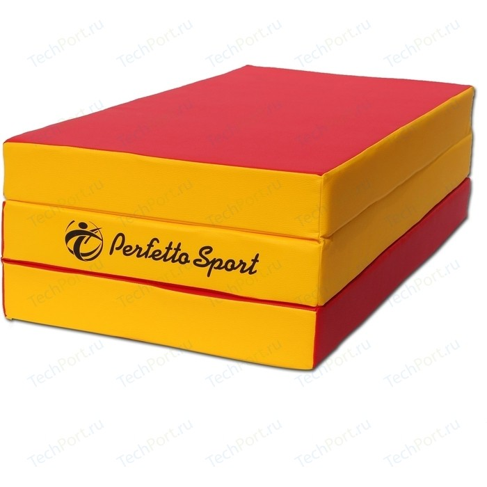 Мат PERFETTO SPORT № 4 (100 х 150 10) складной красно/жёлтый