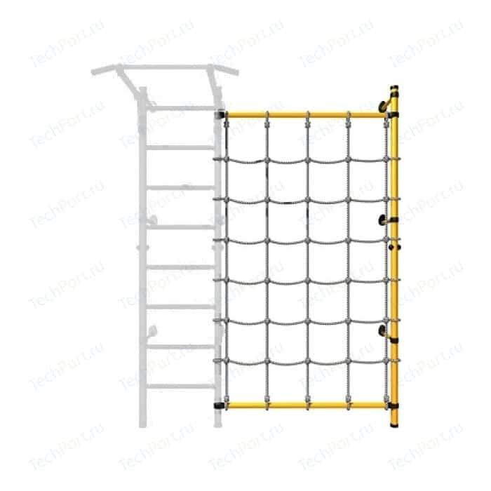 Детский спортивный комплекс Romana ДСКМ-1С-8.02-45 Комплект с канатным лазом пристенный белый антик/золото (дополнительная секция)