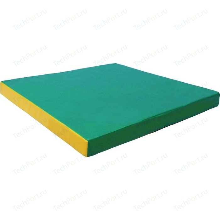 Мат КМС № 2 (100 x 100 10) зелёно-жёлтый