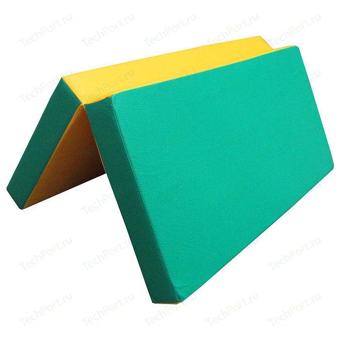 Мат КМС № 3 (100 x 100 10) складной зелёно-жёлтый