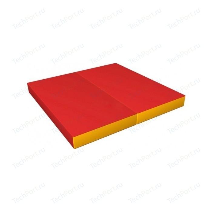 Мат КМС № 3 (100 x 100 10) складной красно-жёлтый