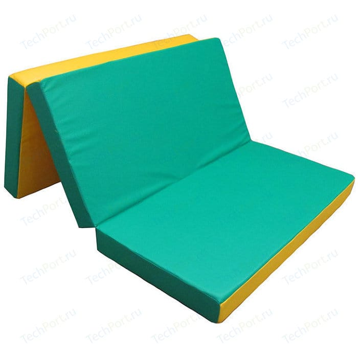 Мат КМС № 4 (100 x 150 10) складной зелёно-жёлтый