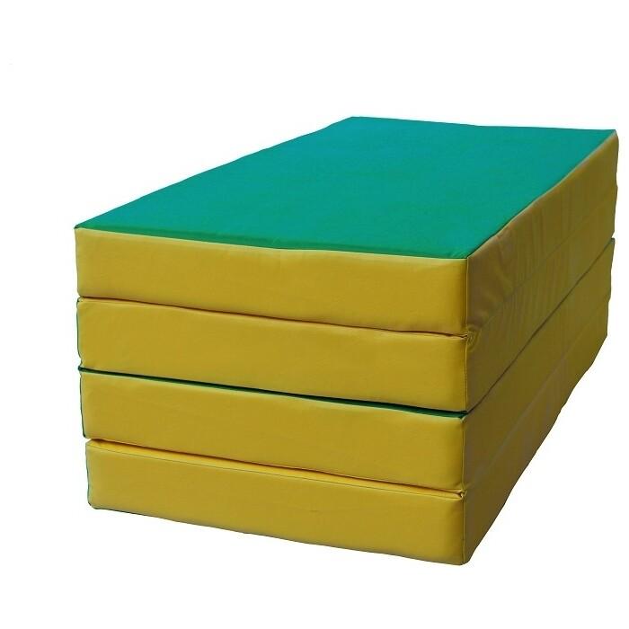 Мат КМС № 5 (100 x 200 10) складной зелёно-жёлтый
