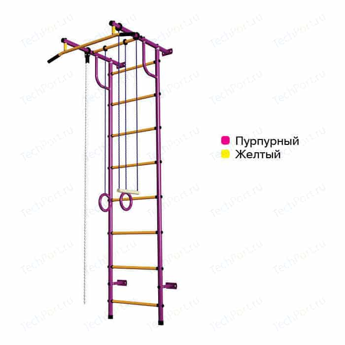 Шведская стенка Пионер С2НМ пурпурно/желтый шведская стенка пионер с2нм красный желтый