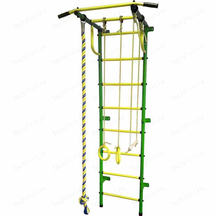 Детский спортивный комплекс Пионер С2РМ зелёно/жёлтый