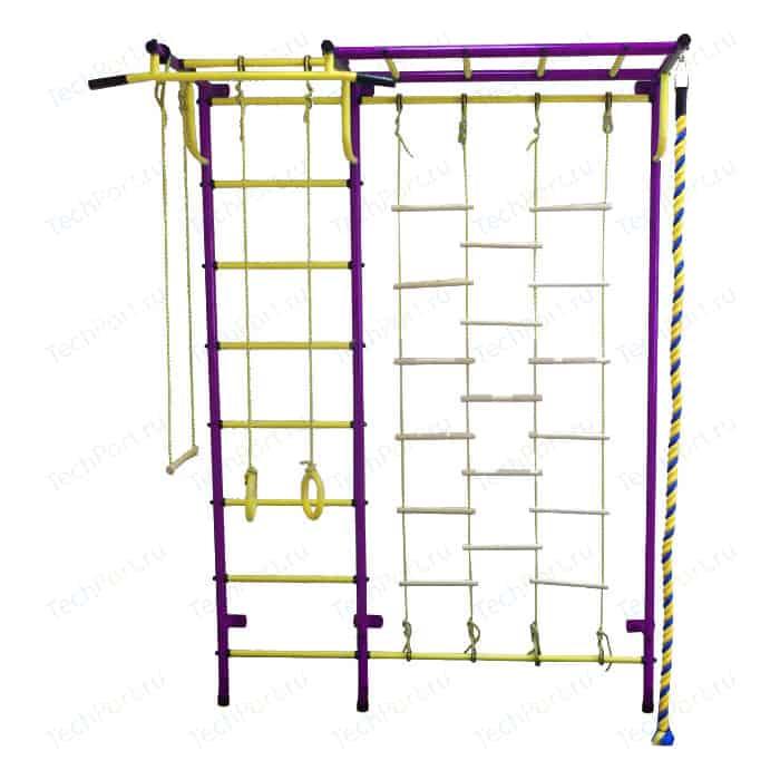 Детский спортивный комплекс Пионер С4Л пурпурно/жёлтый