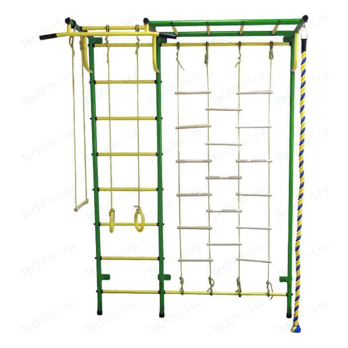 Детский спортивный комплекс Пионер С4ЛМ зелёно/жёлтый