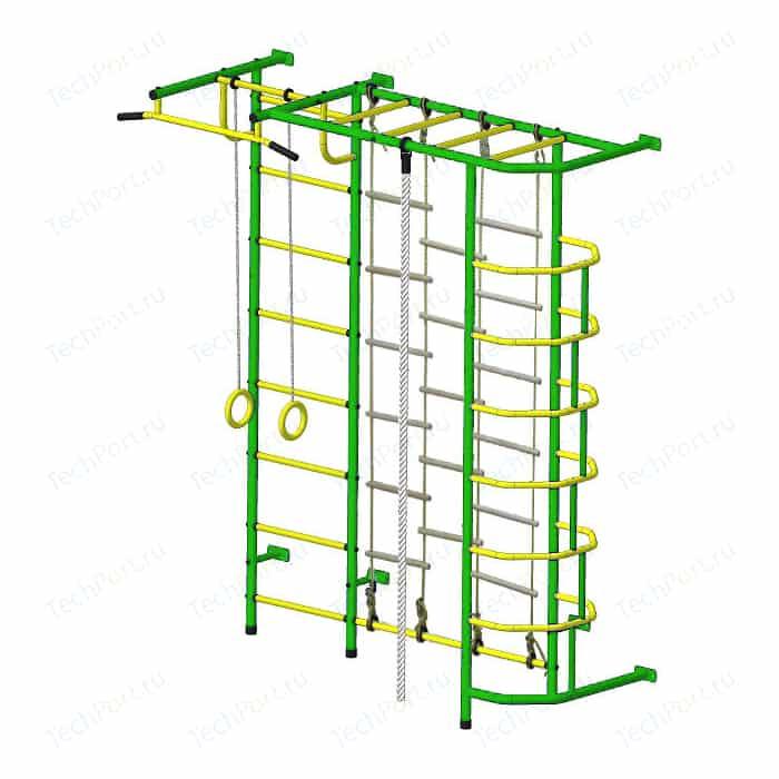 Детский спортивный комплекс Пионер С5ЛМ зелёно/жёлтый