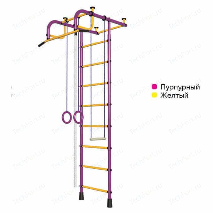 Шведская стенка Пионер 1М пурпурно/желтый