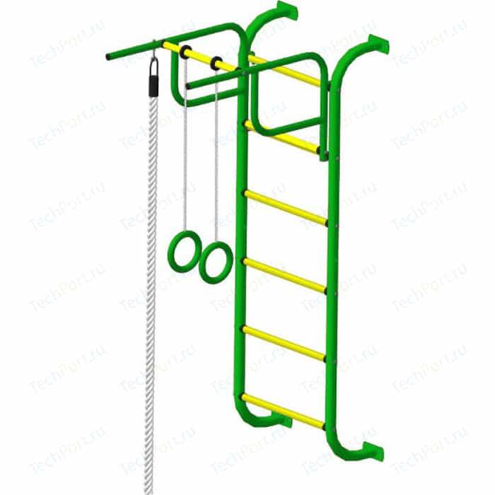 Детский спортивный комплекс Пионер 7М зелёно/желтый