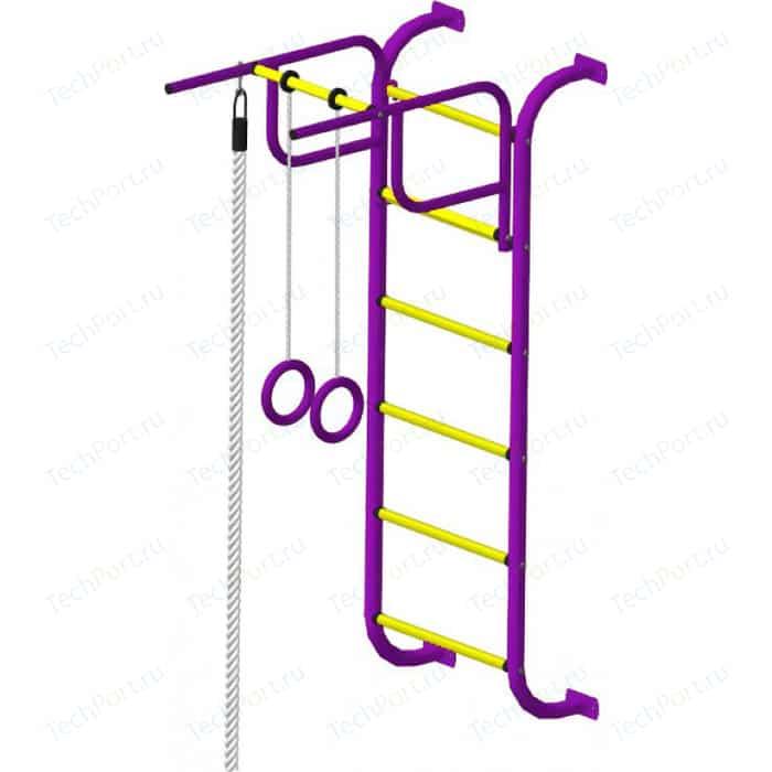 Детский спортивный комплекс Пионер 7М пурпурно/жёлтый