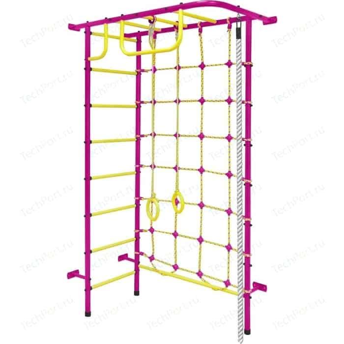 Детский спортивный комплекс Пионер 8 пурпурно/жёлтый