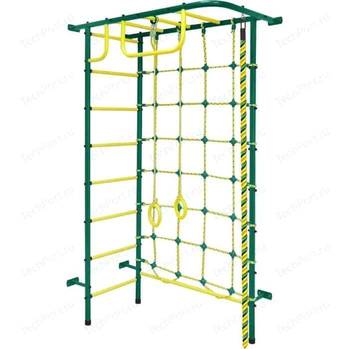 Детский спортивный комплекс Пионер 8М зелёно/жёлтый