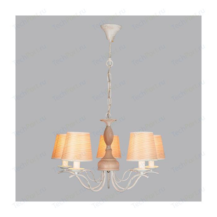 Подвесная люстра Eurosvet 60027/5 белый с золотом настольная лампа eurosvet 01002 1 белый с золотом
