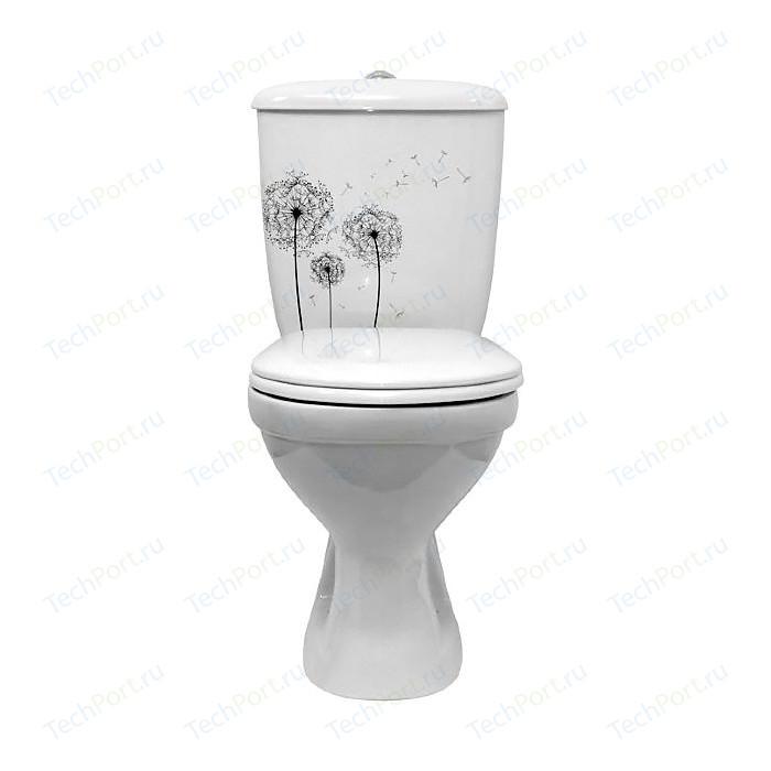 Унитаз Оскольская керамика Суперкомпакт декор одуванчик (44901130122)