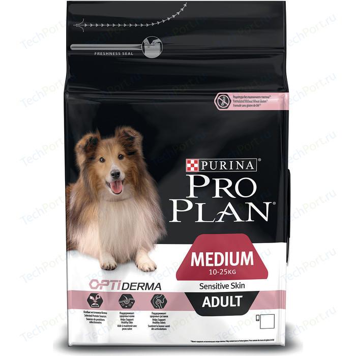 Сухой корм PRO PLAN OPTIDERMA Sensitive Skin Adult Medium с лососем и рисом для собак средних пород чувствительной кожей 1,5кг (12272386)