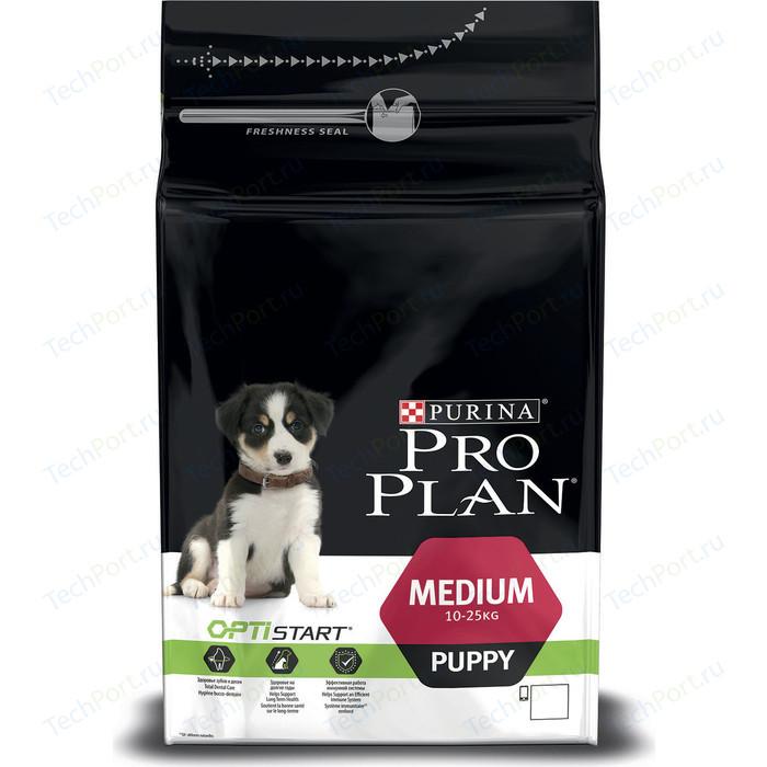 Сухой корм PRO PLAN OPTISTART Puppy Medium с курицей и рисом для щенков средних пород 1,5кг (12272270)