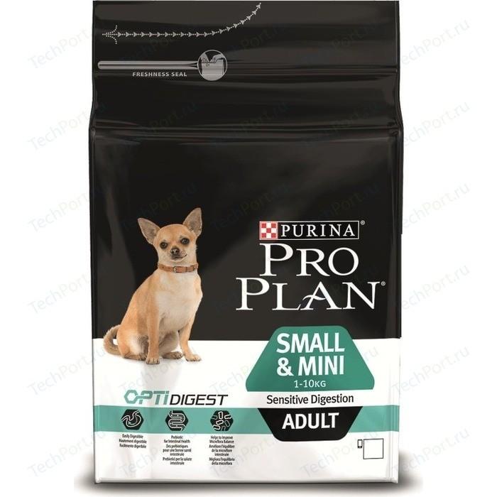 Сухой корм PRO PLAN OPTIDIGEST Sensitive Digestion Adult Small & Mini с ягненком для собак мелких пород чувствительным пищеварением 3кг (12278062)