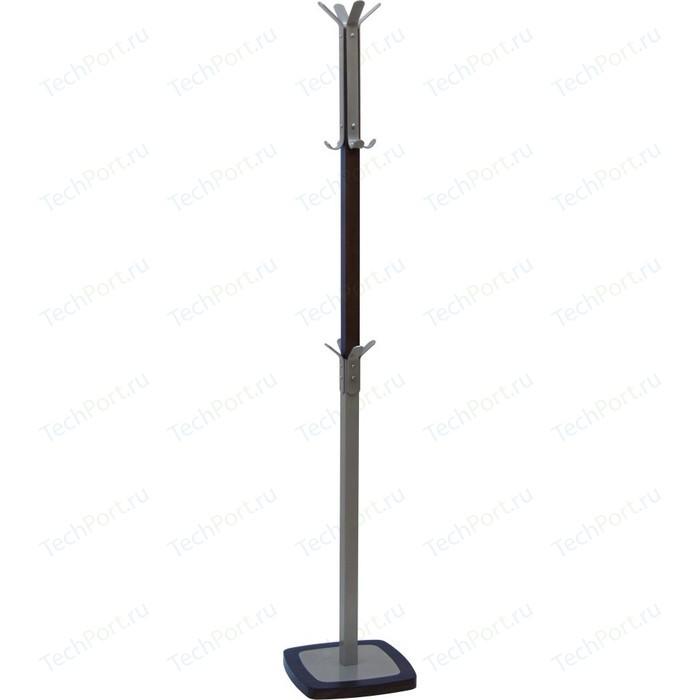 Вешалка напольная Мебелик Босс 1 темно-коричневый/металлик