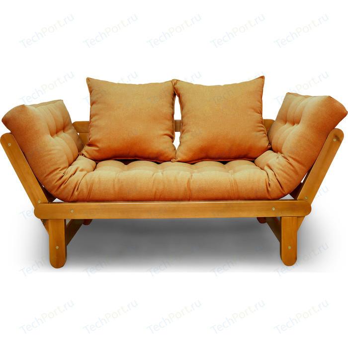 Кушетка Anderson Сламбер орех-оранжевая рогожка