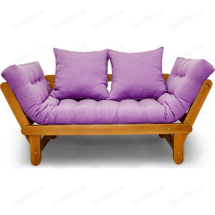 Кушетка Anderson Сламбер орех-фиолетовая рогожка