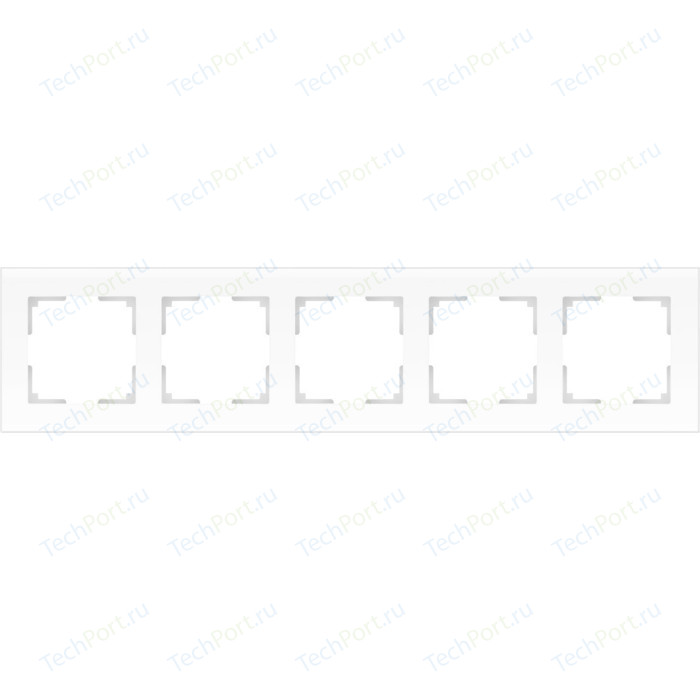 Рамка Werkel Favorit на 5 постов белый матовый WL01-Frame-05