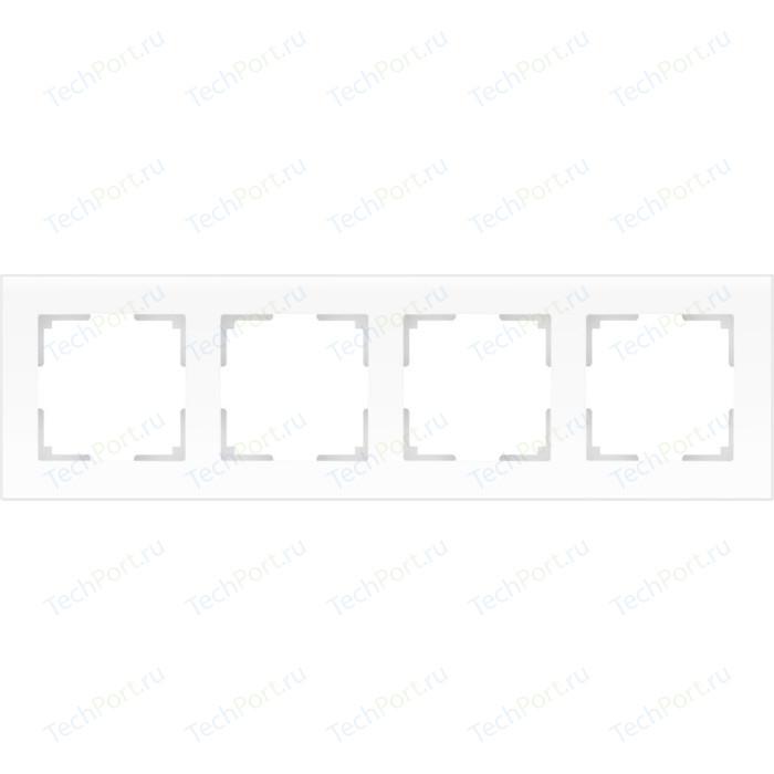 Рамка Werkel Favorit на 4 поста белый матовый WL01-Frame-04