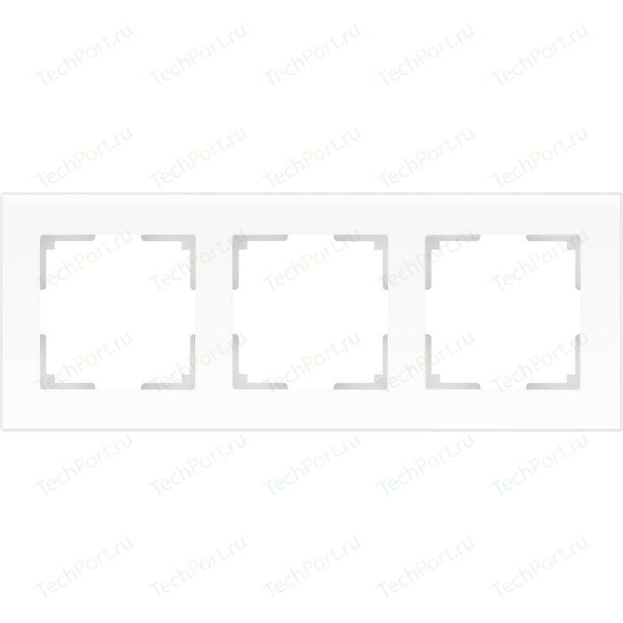 Рамка Werkel Favorit на 3 поста белый матовый WL01-Frame-03