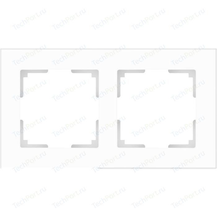 Рамка Werkel Favorit на 2 поста белый матовый WL01-Frame-02