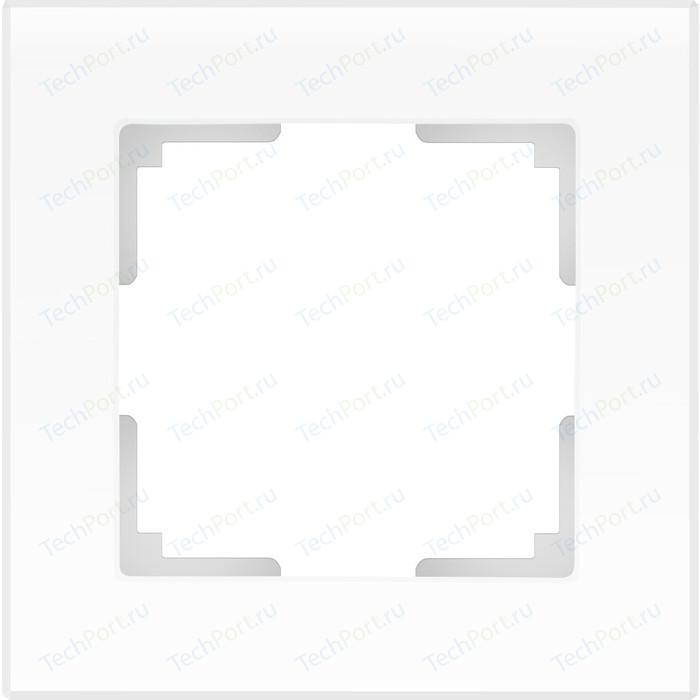 Рамка Werkel Favorit на 1 пост белый матовый WL01-Frame-01