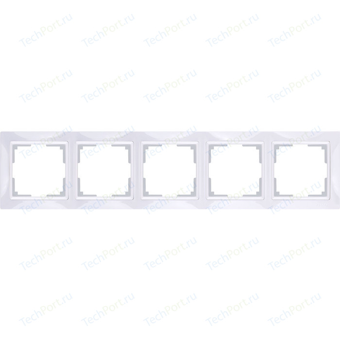Рамка Werkel Snabb Basic на 5 постов белый WL03-Frame-04