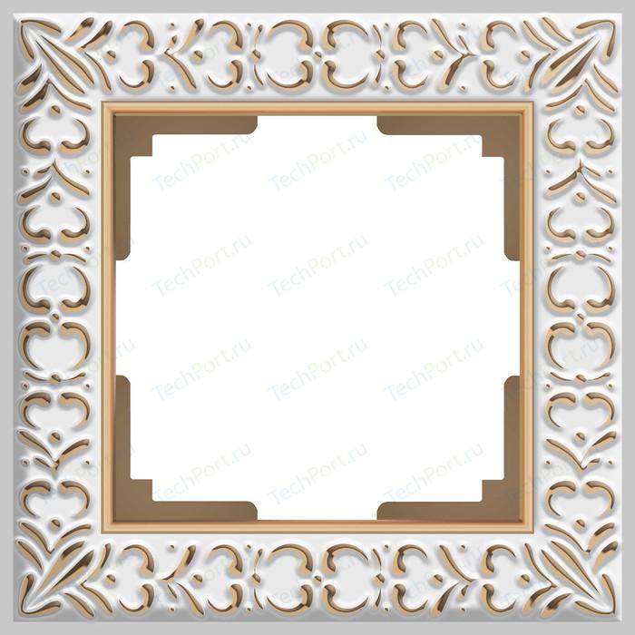 Рамка Werkel Antik на 1 пост белое золото WL07-Frame-01 рамка werkel antik жемчужный wl07 frame 04