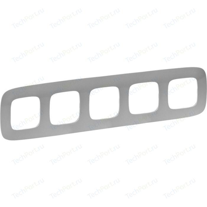 Рамка Legrand 5-постовая Valena Allure Алюминий 754395