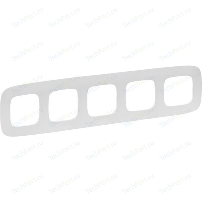 Рамка Legrand 5-постовая Valena Allure Жемчуг 754415