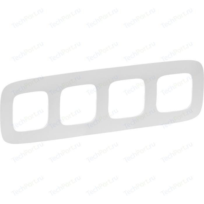Рамка Legrand 4-постовая Valena Allure Жемчуг 754414